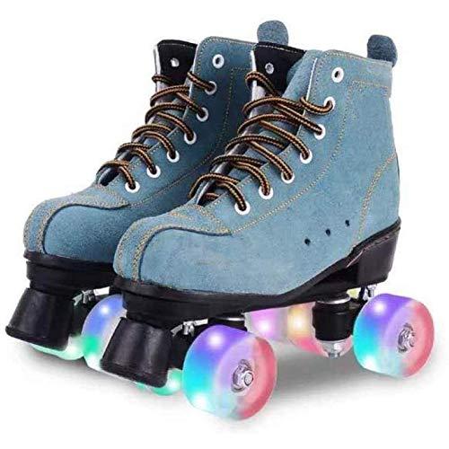Roller Skates Passend Für Mode-Ikone Anfänger Und Junge Mädchen Vier Runden Rollschuhe Doppelreihe Rollschuhe Outdoor-Sportarten Rollschuhe,A,44