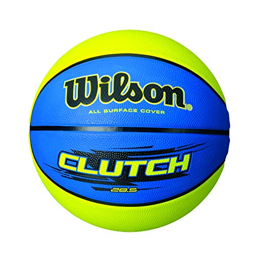 Amazing Deal Wilson Clutch Basketball, Blue/Lime, Intermediate - 28.5