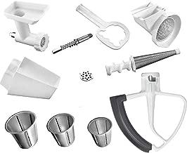 KitchenAid DRTVICE4 (FGA+RVSA+FVSP+KFE5T) Stand Mixer Attachment Pack Food Grinder/Fruit Vegetable Strainer/Rotor Slicer Shredder/Flex Edge Beater