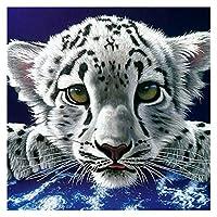 ダイアモンドペインティング ダイヤモンド刺繍タイガー販売写真ラインストーンフルスクエアダイヤモンド絵画動物ダイヤモンドモザイク子供ギフト (Color : 3, Size : Round 15x15cm)
