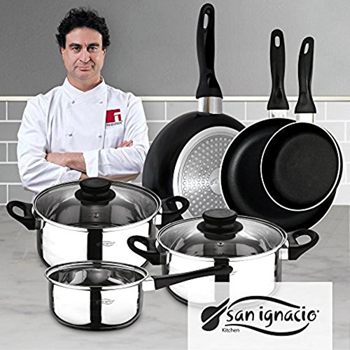 San Ignacio PK329 Set Juego de Tres sartenes + Batería de Cocina...