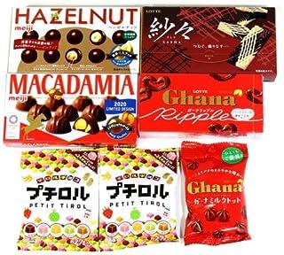 ロッテ・明治 チョコレートバラエティセット B (6種・7計個) おかしのマーチ