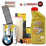 Kit tagliando olio CASTROL EDGE 5W30 6LT+4 FILTRI BOSCH