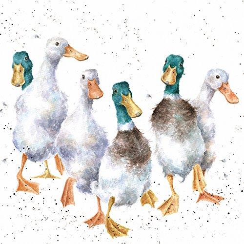 Artistic Grußkarte (wre2486)–blanko/Geburtstag–Quackers–Enten–Country-Set-Collection–Hannah Dale