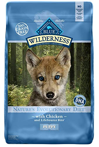 Blue Buffalo Wilderness High Protein Grain Free, Natural Puppy Dry Dog Food, Chicken 24-lb (859610005666)