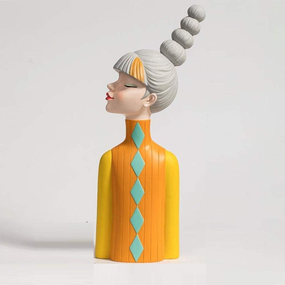 YANGHONDD Sculpture Appreciation Bust Portland Milwaukee Mall Mall Decoration Storage Liv Key