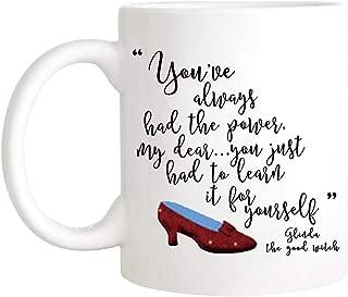CrossLove - You've always had the Power, My Dear, Glinda, Dorothy, Wizard, The Good Witch, Ruby Slippers, Movie Quote Coffee Mug - 11oz Ceramic Coffee Novelty Mug/Tea Cup, High Gloss