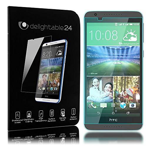 NALIA Schutzglas kompatibel mit HTC Desire 820, Full-Cover Bildschirmschutz Handy-Folie, 9H Festigkeit Glas-Schutzfolie Display-Abdeckung Schutz-Film Phone HD Screen Protector Tempered Glass - Transparent