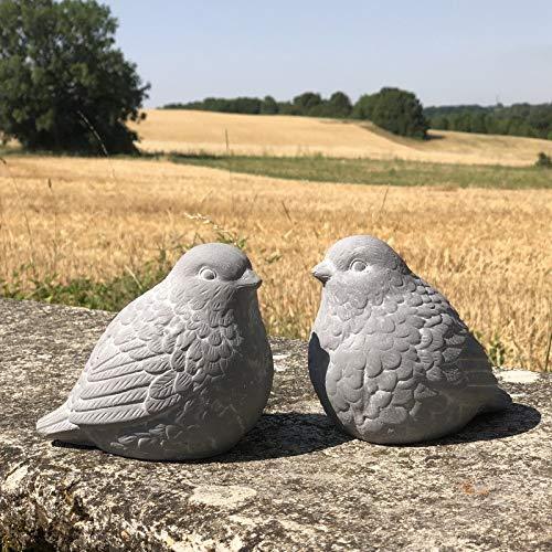 chemin_de_campagne 2 Oiseaux Animaux Statues Ciment de Jardin Tortue Chat Oiseaux