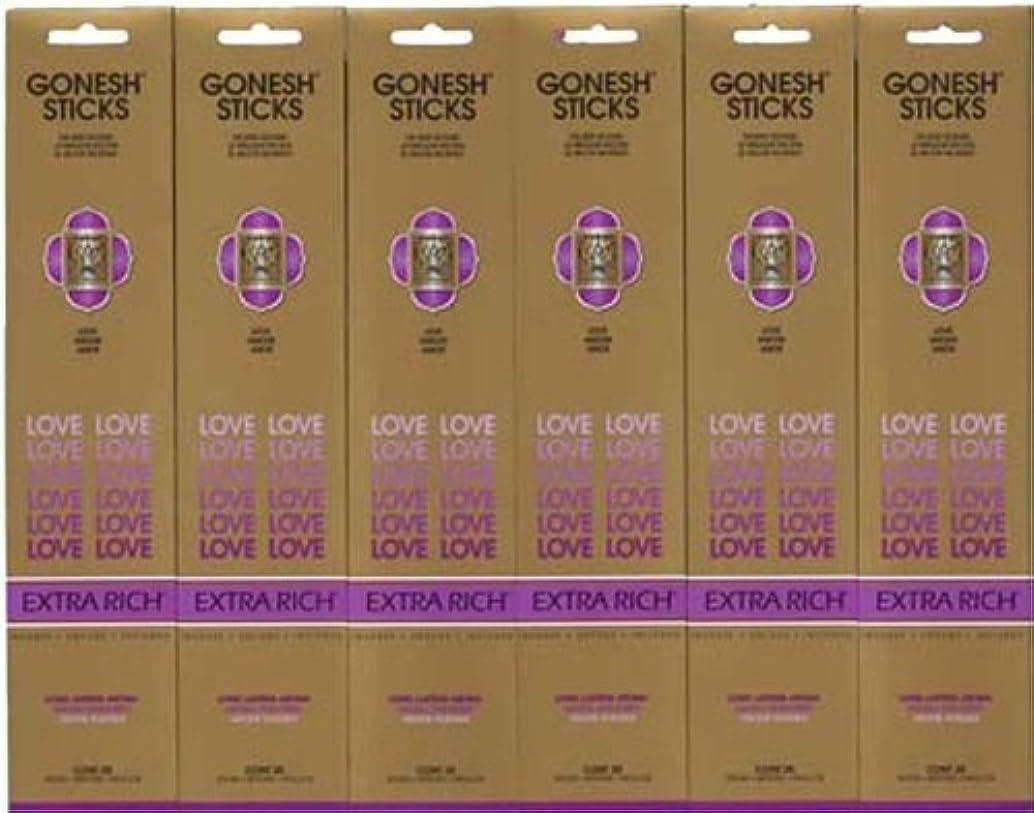 ディベートコインランドリーメロディーGONESH LOVE ラブ スティック 20本入り X 6パック (120本)