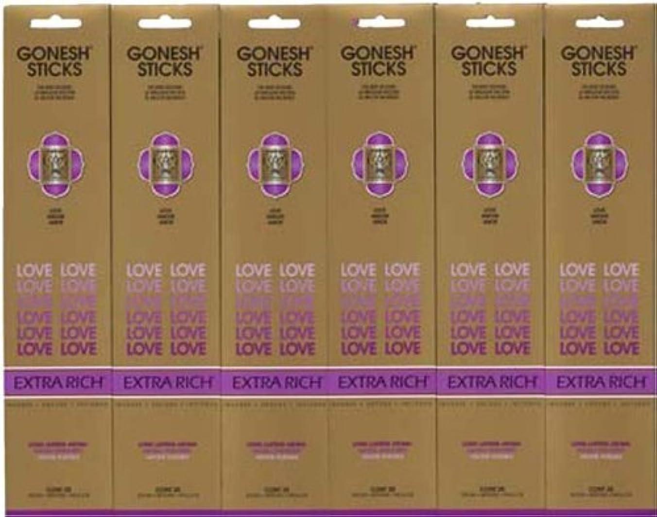 影のある味付けチチカカ湖GONESH LOVE ラブ スティック 20本入り X 6パック (120本)