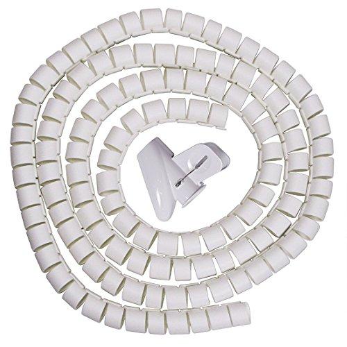 sourcing map Sourcingmap® 25mm Flexible Espiral Tubo Cable Cable Envolver Manejo de...