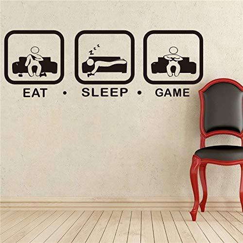 Juego de dormir pegatinas de pared juego joystick jugar calcomanía arte de la pared decoración habitación de los niños decoración familiar jugador papel tapiz