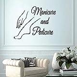 Nuevos vinilos adhesivos de pared manicura pedicura manicura salón de uñas para ventana de esquina vivero sala de estar oficina dormitorio decoración