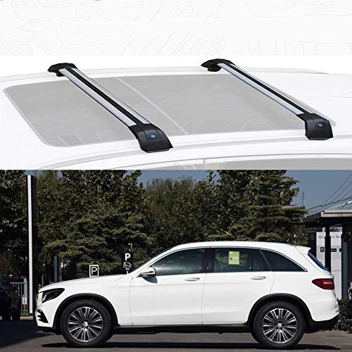 YIJIAREN Ajuste Rieles Cruzados Personalizado para Mercedes B ENZ GLC 2016-2020, aleación de Aluminio Barra Transversal Rack De Techo Portaequipajes Rack con Cerradura