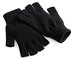 88% acrylic, 11% polyester, 1% elastane 88% acrylic, 11% polyester, 1% elastane machine wash fastening: pull-on fingerless gloves bb491 blk s/m Special size type: Standard