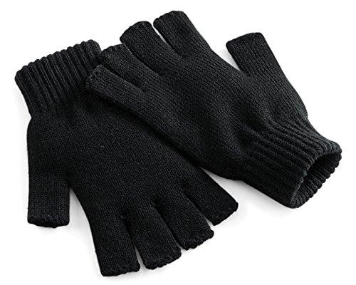 Beechfield Fingerlose Handschuhe - Herren, Schwarz, L/XL