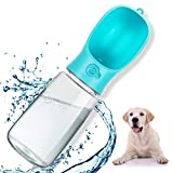 Dog Water Bottle for Walking, Portable Pet Water Bottle, Leak Proof Dog Water Dispenser, 18OZ(550ml) Travel Drink Feed Cup for Puppy Outdoor Hiking, Food Grade BPA Free, Lightweight with Lock Blue
