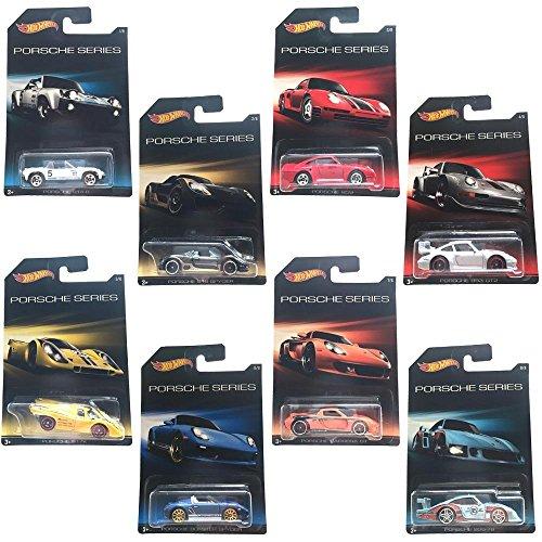 Hot Wheels Porsche: Complete set of 8 Diecast Cars