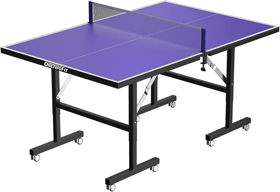 ONETWOFIT 6'x3' Table Tennis Tables Pong Foldable Mesa Mall Midsize T Beauty products Ping