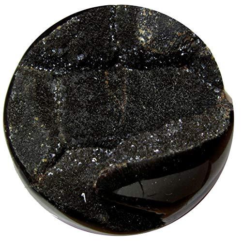"SatinCrystals Septarian Ball 4.3"" Collectible Show Piece Brown Dazzling Druzy Quartz Dragon's Egg Crystal Ancient Madagascar Sphere Stone C52"