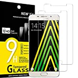 NEW'C Lot de 2, Verre Trempé pour Samsung Galaxy A5 2016 (SM-A510) Film Protection écran - Anti Rayures - sans Bulles d'air -Ultra Résistant (0,33mm HD Ultra Transparent) Dureté 9H Glass