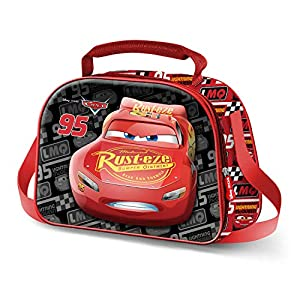 KARACTERMANIA Cars 3 Mcqueen-Bolsa Portameriendas 3D, Multicolor