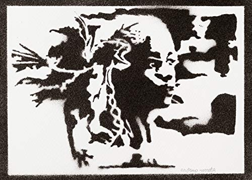 Daenerys Targaryen Poster Game of Thrones Plakat Handmade Graffiti Sreet Art - Artwork