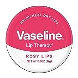 Vaseline Lip Therapy Lip Balm Tin, Rosy Lips, 0.6 Ounce