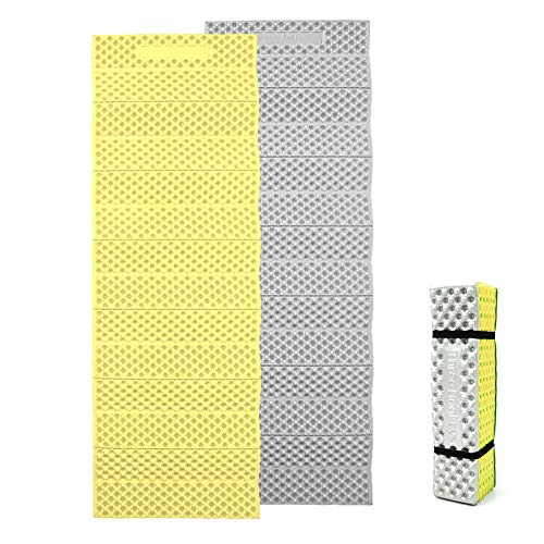 Three Donkeys Z Lite Cell Foam Camping Sleeping Pad, Ultralight Lightweight Folding Camping Pad for Hiking Backpacking (Yellow)