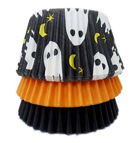 Scrumptious Sprinkles 10 x 10 x 7 cm 36 pièces Moules à Cupcakes Fantôme Orange et Noir