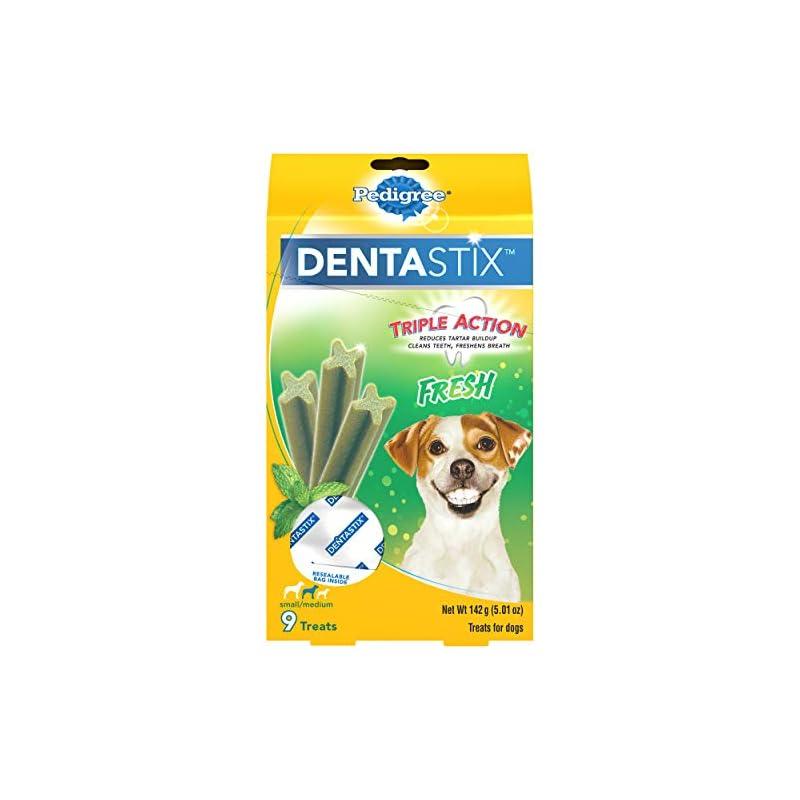 dog supplies online pedigree dentastix dental dog treats for small/medium dogs fresh flavor dental bones, 5 oz. pack (9 treats)