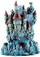 リアルなディテールで描かれた手描きの城水族館の装飾水槽の飾り