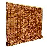 Roller Blind Bamboo Reed Cortina Retro Cortinas de Paja Romanas Resistente al Agua y al Moho, contraventanas Interiores y Exteriores, adecuadas para Puertas y Ventanas, marrón, tamaño Personalizable