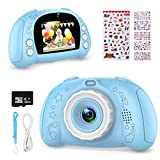 WOWGO Digital Camera for Kids, 1080P Rechargeable Electronic Children Camera Birthday Toy Gift with 32GB TF Card for Toddler and Age 3 to 10 Years Boys and Girls (Blue)