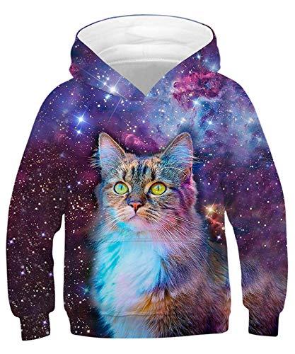 ALISISTER Kapuzenpullover Jungen Mädchen 3D Animal Hoodie Kinder Langarm Sweatshirt Casual Shirts Für Frühling Herbst L