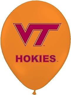 "Pioneer Balloon Company 10 Count Virginia Tech Latex Balloon, 11"", Orange"