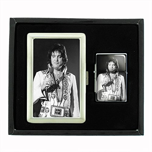 Check Out This Customized Collectables Fat Elvis The King of Burgers Icon Cigarette Case and Flip To...