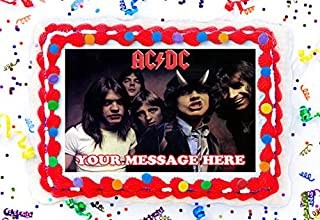 ACDC Cake Topper Edible Image Personalized Cupcakes Frosting Sugar Sheet (2