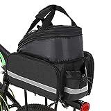 Bolso Bolsa de Asiento Posterior de la Bicicleta 25L Moda multifunción Ampliable Bolsa Impermeable for Bicicleta MTB Estante con la Bolsa de Cubierta de la Lluvia (Color : Grey)