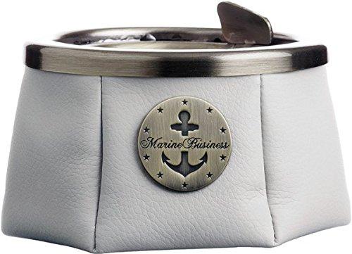 marine business Cendrier inox et cuire beige