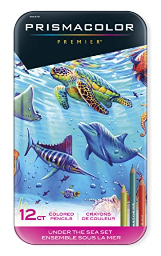 Prismacolor Premier Colored Pencils, Soft Core, Under the Sea Set, 12 Count