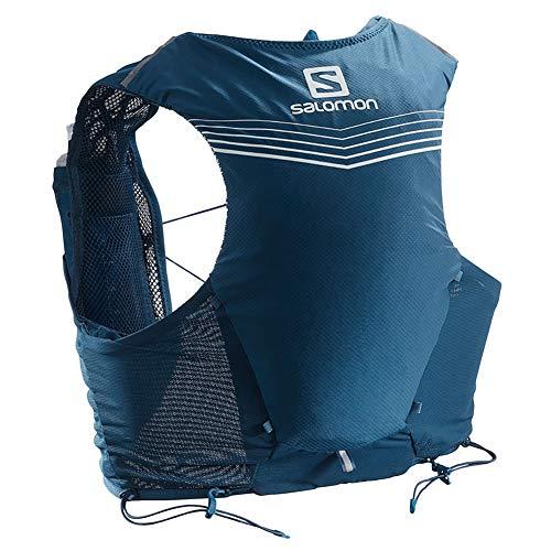 Salomon Advanced Skin 5 Set Unisex Trail Running Vest Backpack, Poseidon/Night Sky, Small
