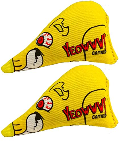Yeowww! 2 Pack of Chubby Mouse Catnip Cat Toys,...