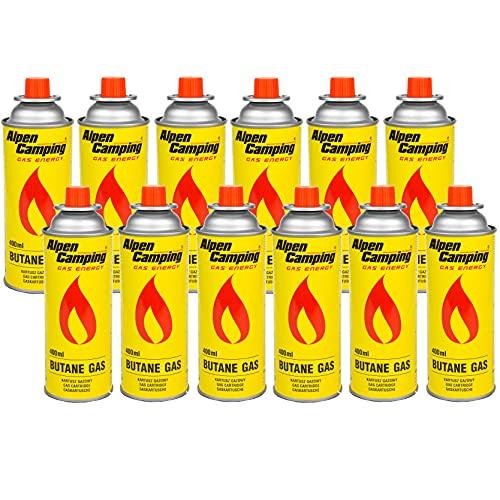 Alpen Camping Cartucho de Gas Isobutano Botella de Gas para Estufa de Camping 400ml EN417 (12)