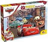 Liscianigiochi- Puzzle Doble Cara 35x50 cm con Reverso para Colorear de 24 Piezas Disney Cars Puzle para niños, Multicolor (86221)