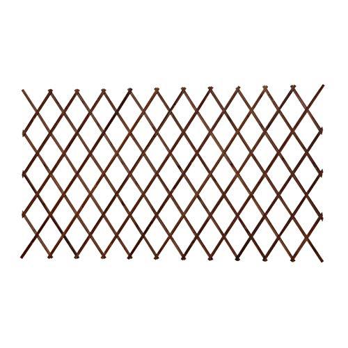 JIANFEI-Valla de jardín Valla De Madera, Escalable Plantas Vid Escalada Estantes Interior/Exterior Jardín Rejilla Ornamentos Animales Barrera Partición 2 Colores (Color : Brown, Size : 200X46CM)