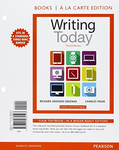 Writing Today, Books a la Carte Edition Plus REVEL -- Access Card Package (3rd Edition)