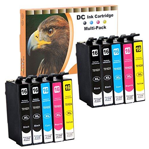 D&C 10er Set Tintenpatronen Druckerpatronen für Epson Workforce WF 2010 W, 2500 Series, 2510 WF, 2520 NF, 2530 WF, 2540 WF, 2630 WF, 2650 DWF, 2660 DWF, 2660 WF, 2700 Series, 2750, 2760