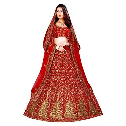 Bridal Velvet Lehenga Choli Ghagra Girl Skirt Top Rock Designer Wedding Kleid mit Dupatta Frauen traditionelle Hochzeit indische Frau festlich Hijab Kaftan Burqua Women Braut Bollywood 8691